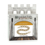 Weave Got Maille Helm Chain Maille Bracelet Kit, Gold and Silver