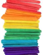 1000 Multi-colour Standard Size Wood Craft Sticks Multi-colour Popsicle Stick
