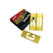 45 Piece Letter & Number Sets - 5.1cm 45pc letter & numberstencil set brass