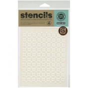 Hero Arts Basic Grey Aurora Frosted Mylar Stencil, Circles and Squares
