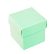 Mini Small Square Cube Robin's Egg Blue Gift Boxes with Lids for Party Favours, Decoration, Weddings, Birthdays, and more. 5.1cm x 5.1cm x 5.1cm in Size. (10 Pack) by Super Z Outlet®