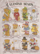 Calendar Bears Counted Cross Stitch 36cm X 46cm Picture Kit