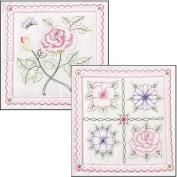 BUCILLA 46066 Floral Stamped Quilt Blocks