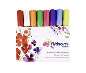 Artisan's Effect™ Liquid Chalk Radiant Chalk Marker - Premium 8 Colour Chalk Markers with Reversable 6mm Chisel and Round tip