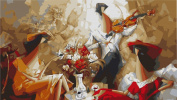 Greek Art Paintworks Paint Colour By Number Kits,Music Story,41cm by 50cm