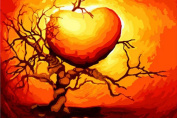 Greek Art Paintworks Paint Colour By Number,Love Tree,41cm by 50cm