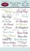Justrite 28-Piece Papercraft Clear Stamp Set, 10cm by 15cm , Mix and Match Sentiments