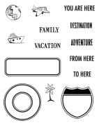 Karen Foster Design, Clear Stamp Set, Road Signs 2