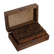 70pcs Alphabet Letter Number Wood Rubber Stamps Set Wooden Box