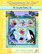 Symphony in Sea Java House BOM Sealife Mermaid Quilt 7 Pattern Set Karen Brow