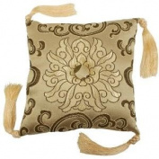 Singing and Meditation Brocade Bowl Cushion (Gold); 13cm