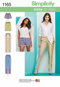 Simplicity Patterns US1165R5 Misses' Pull-On Pants, Long or Short Shorts, R5