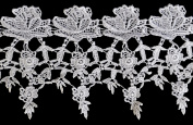 Altotux 13cm White Venise Vintage Guipure Victorian Flower Lace Trim By Yard