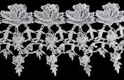 Altotux 13cm White Venise Vintage Guipure Victorian Flower Lace Trim By Yard