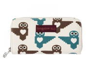 Bungalow360 Womens Canvas Zip Around Clutch Wallet