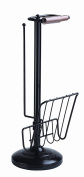 Better Living Products Toilet Caddy Tissue Dispenser with Magazine Rack, Oil Rubbed Bronze