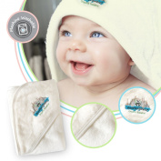 Brooklyn Bamboo Baby Hooded Towel, Soft, Hypoallergenic Thick, Organic, Infant & Toddler Layette & Registry & Gift Basket Sets, Large