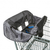 . Shopping Cart & High Chair Cover - Grey