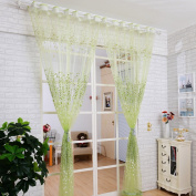 Chunshop Floral Type Drape Panel Sheer Scarf Valance Tulle Voile Door Room Window Curtain