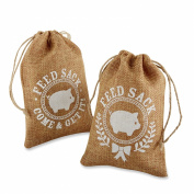 Kate Aspen Burlap Feed Sack Favour Bag, Brown