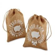 Kate Aspen Burlap Feed Sack Favour Bag, Brown