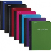 Staples® Poly Composition Notebook, Wide Ruled, Assorted