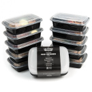10-Pack 1-Compartment Stackable Food Containers with Lids