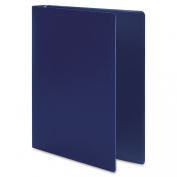 ACCO AccoHide Round Ring Binder, 22cm x 28cm , 1.3cm Capacity, Flexible Cover, Dark Royal Blue