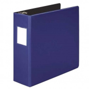 Wilson Jones 384 Line Heavy-Duty Locking D-Ring 7.6cm Binder 22cm x 28cm Sheet Capacity - Blue