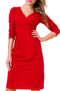 Sexy Ladies Long Sleeve Stretch Dress V-Neck Office Casual Pencil Dress Maternity