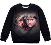 THENICE Women's Fashion Digital Printing Sport Pullovers Couples Sweater Sweatshirt T-shirt