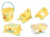 Pot + TOILET Attachment + Stool + Nappy pail + Traveller Box Winnie Pooh yellow