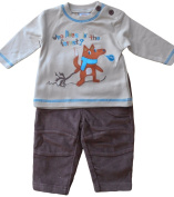 6-9 months - Baby Boys Cute Brown Winter Forest Fox Long-sleeved Top and Corduroy Trousers Outfit