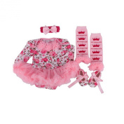 Anik Sunny Baby Girls tutu Dress Clothing Suits Romper Dress +Shoes+ Headband + Leg warmer Kids Rompers Clothes Set