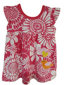 Baby Girls Dress Pink Flowers & Hearts Cotton Dress