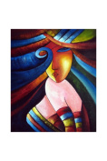 Vibrant Beauty Abstract Oil Painting