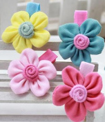 Cuhair(tm) 4pcs Flower Same As Picture Design for Women Baby Girl Accessories Princess Bb Hair Clips Hairpin Girl Clip Band