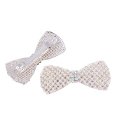 X & Y ANGEL Lovely Crystal Pearl Bowknot Hair Clips Hairpins- For Hair Clip Beauty Tools