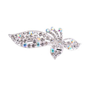 X & Y ANGEL Women Hair Clips Crystal Barrette Hairpin Bowknot Charms Bridal Headpiece