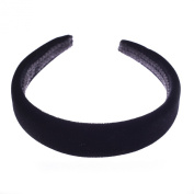 Black Padded Velvet Alice Hair Band Headband 2.5cm