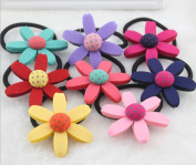 Cuhair(tm) 2015 New Fashion Top Quality Baby Girl Kids Same As Picture 8pcs Sunflower Hair Rope Hair Band for Baby Kids Girl