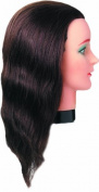 Fripac-Medis - Training Mannequin Head - Hand-Knotted 100% Natural Human Hair - 40 cm
