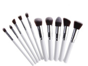 YINGMAN 10pcs Professional Flat Top Synthetic Kabuki Cosmetic Makeup Brush set