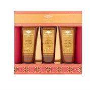 Mandara Spa Exotic Escape Spa Bathing Collection Gift Set with Bali Santi Smoothing Body Polish 50ml+Bali Santi Firming Body Lotion 50ml+Bali Santi Indulgent Bath and Shower Cream 50ml