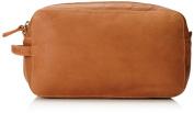 Derek Alexander Two Top Zip Travel Kit, Tan, One Size