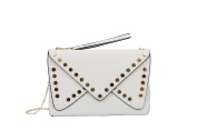 Mellow World Fashion Clutch Jessica, White, One Size