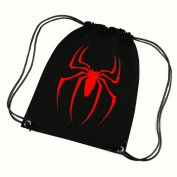 SPIDERMAN RED SPIDER SCHOOL P.E PUMP SACK GYMSACK DRAWCORDED BAG