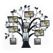 2015 JULY NEW Product!! Adeco Brown Black Decorative 9 Opening Collage Bronze Bronze Iron Metal Wall Hanging Family Tree Picture Photo Frame, 9 Opening, 10cm x 15cm 10cm x 10cm