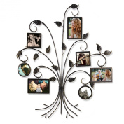 2015 JULY NEW Product!! Adeco Brown Black Decorative 7-Opening Collage Bronze Iron Metal Wall Haning Picture Photo Frame, 10cm x 15cm 10cm x 10cm