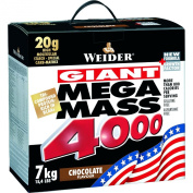 Giant Mega Mass 4000, White Chocolate - 7000 grammes by Weider M